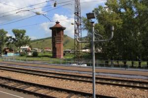 4130-й км Транссиба. Водонапорная башня на станции Зыково